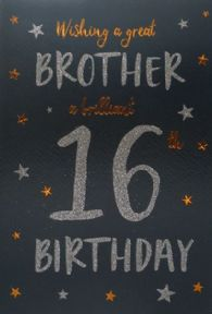 Brother 16th Birthday Card